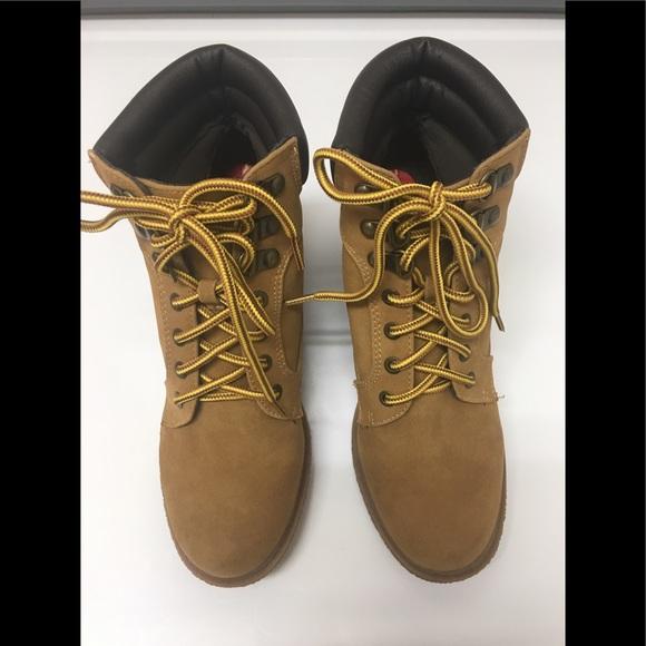 "07e042c91249a Esprit ""Kendal"" Tan Wedge-Heel Women's Ankle Boots"